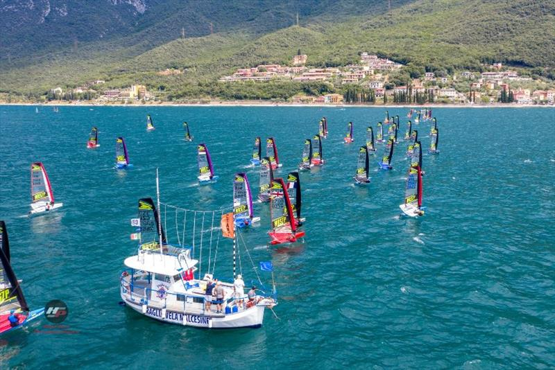 Big fleets and one-design racing is a feature of the class and is growing at a rapid pace - photo © WASZP class