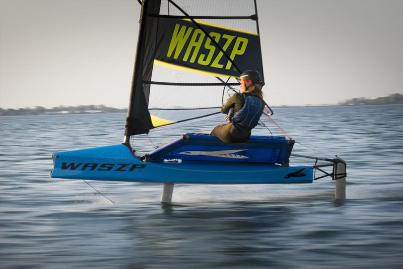 Oakcliff graduate and American Magic design team member Robyn Lesh - photo © Image courtesy of Oakcliff Sailing Center
