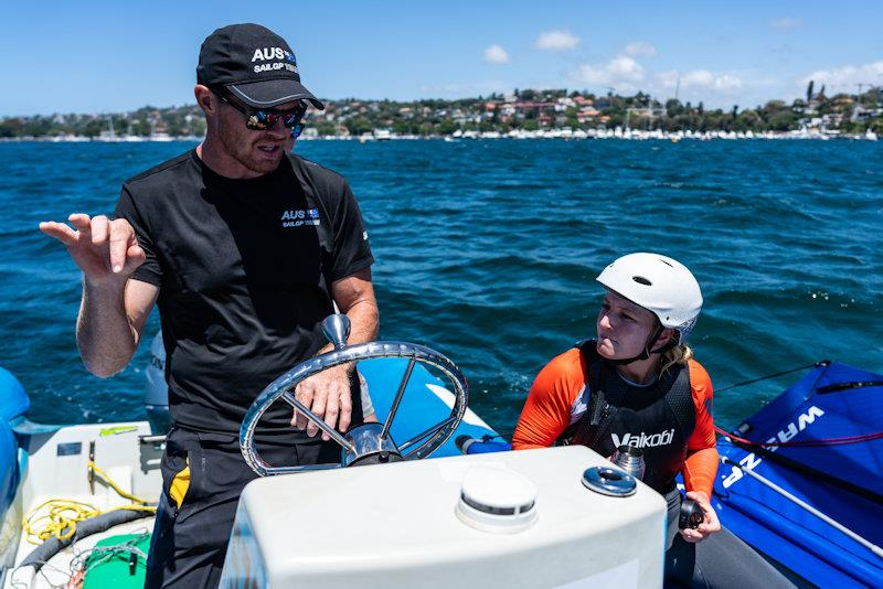 Australia SailGP Team Invitational Camp: Tom Slingsby and Natasha Bryant photo copyright Beau Outteridge / SailGP taken at Woollahra Sailing Club and featuring the WASZP class