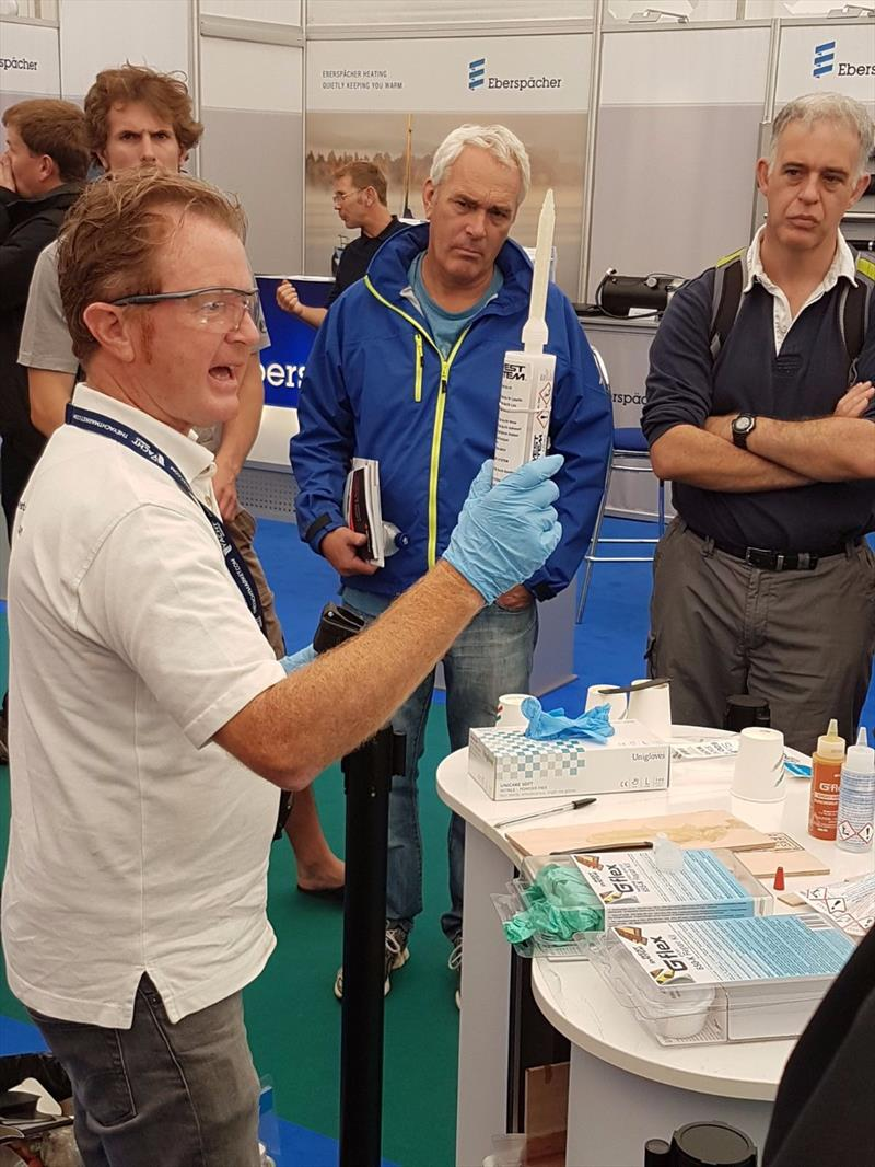 Eureka moment on the West System International stand at a recent boat show photo copyright WSI taken at  and featuring the  class