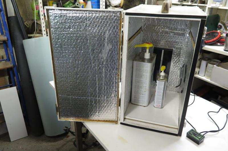 Making a 'smart' hotbox to store epoxy resin - Wessex Resins & Adhesives