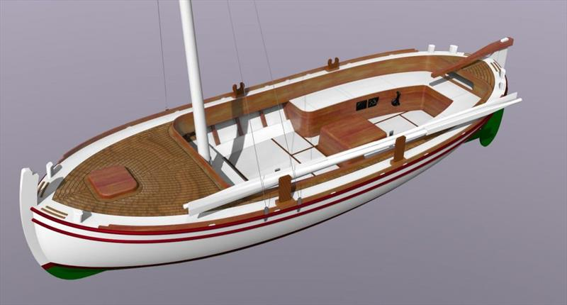 The tough and seaworthy gajeta is powered by a lanteen sail and a small inboard engine. - photo © Wessex Resins & Adhesives