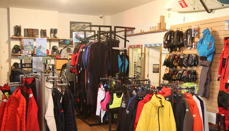 Showroom at Wetsuit Outlet - photo © Mark Jardine