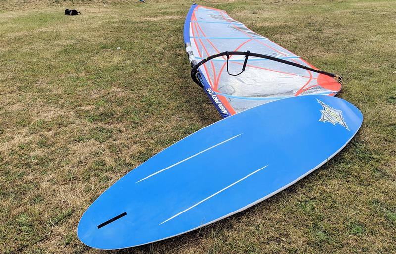 Old school windsurfing kit, but still a lot of fun! - photo © Mark Jardine