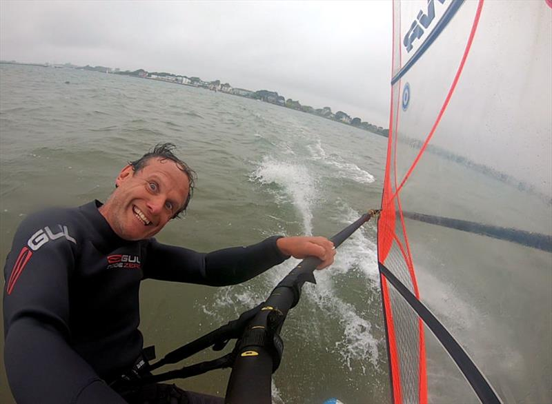 Back out on the board in Christchurch Harbour - photo © Mark Jardine