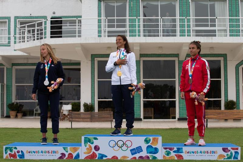 Podium  - 2018 Youth Olympic Games - photo © World Sailing