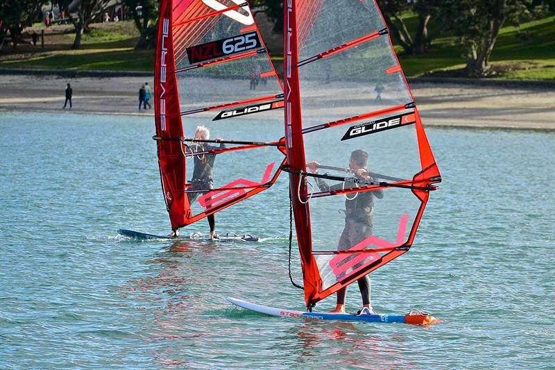 When not foiling the Windfoil Takapuna Beach - October 2018 - photo © Richard Gladwell
