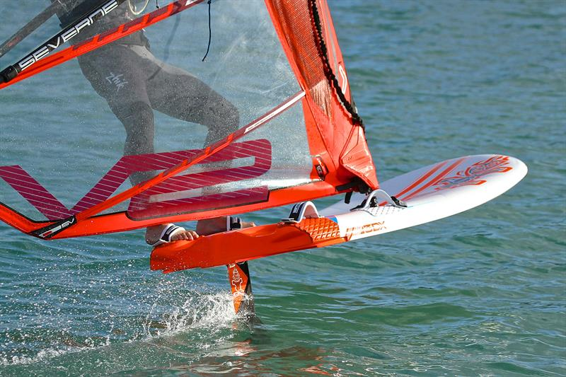 Windfoil showing easy flight even in light, funky breezes - photo © Richard Gladwell