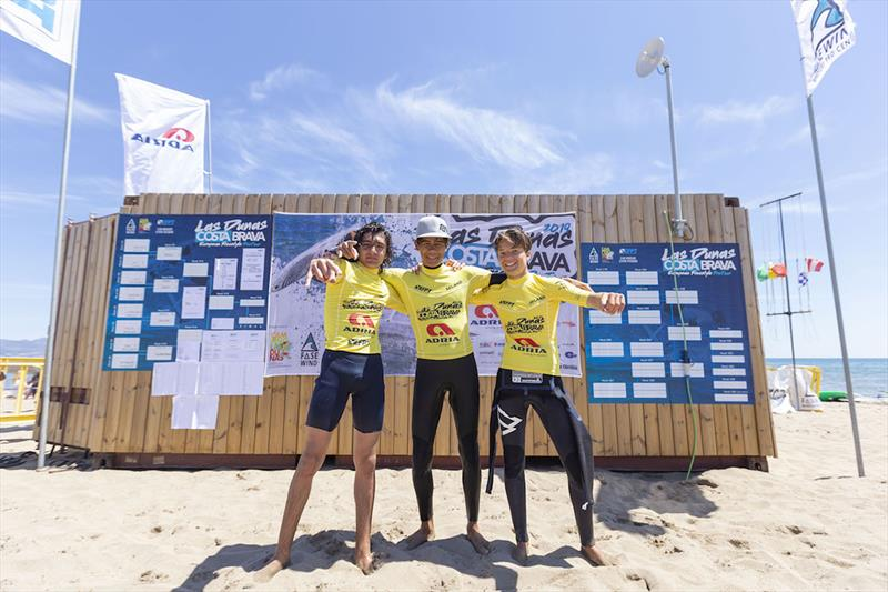 Top three of the junior tow-in competition - 2019 EFPT Las Dunas Costa Brava - Day 4 - photo © Job Vermeulen