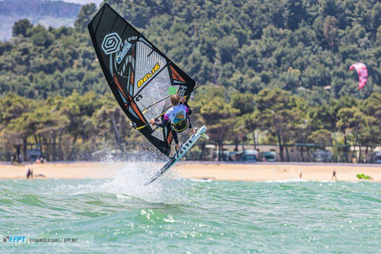 Yentel Caers defending his first place overall - EFPT Spiaggia Lunga Village 2019 - photo © Emanuela Cauli