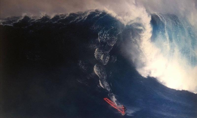 Robby Naish, 56 feet - Men's Biggest Wave - All time photo copyright Erik Aeder taken at  and featuring the Windsurfing class