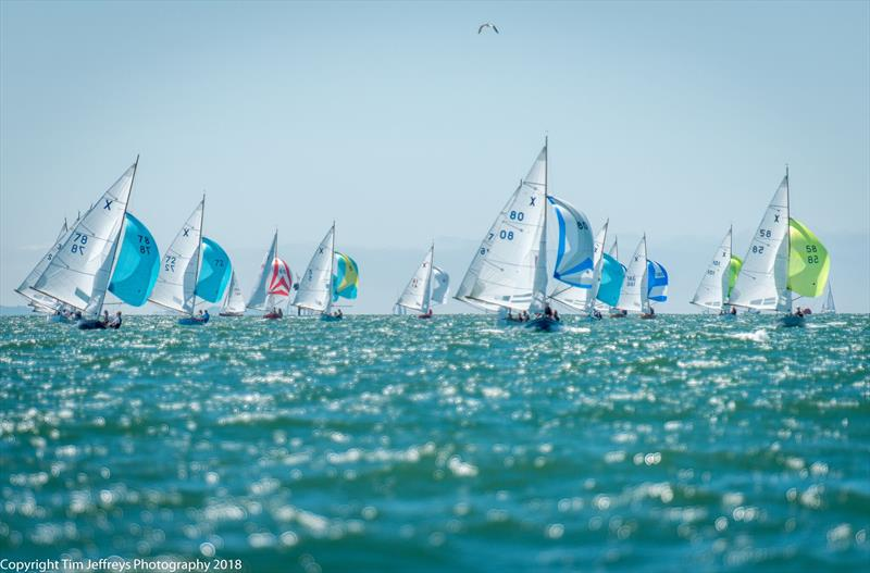 45 XODs fill the Solent on day 1 of Cowes Classics Week - photo © Tim Jeffreys Photography