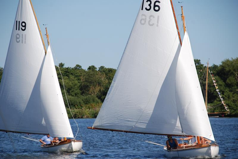 The Miller and Gallium Hawk battle for second place at Wroxham Week - photo © Bill Webber & Ivan Ringwood