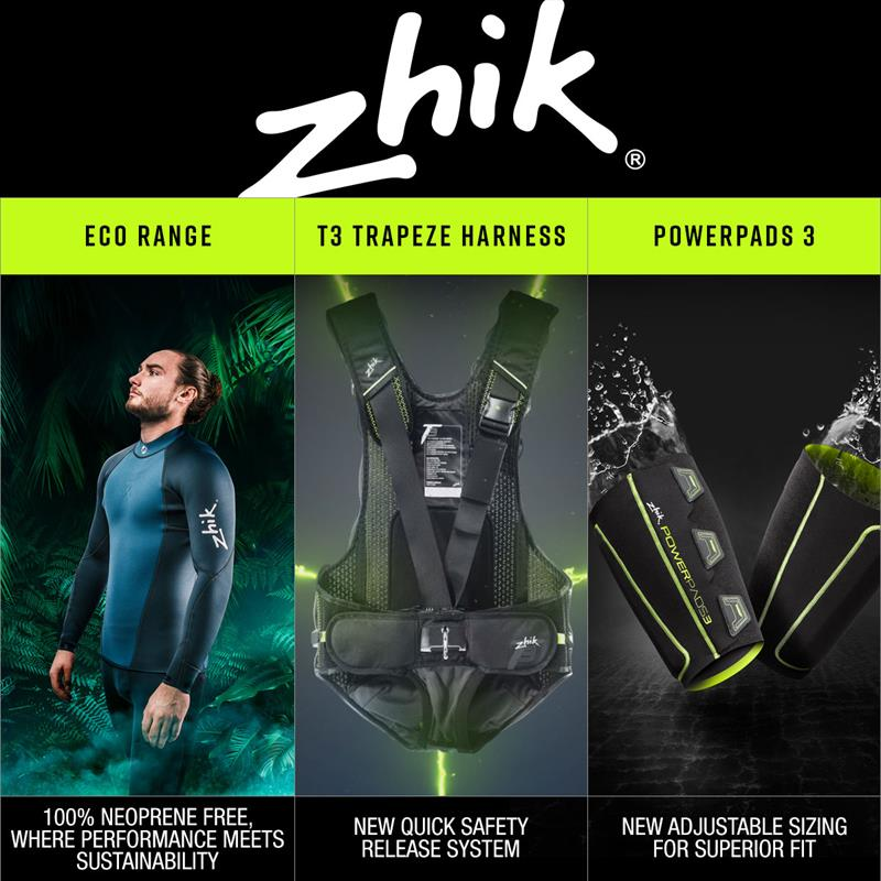 Zhik Eco Range, T3 Trapeze Harness, Powerpads 3 combo - photo © Zhik