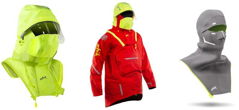 Hydrovision zip-on hood, Isotak Smock, and Superwarm balaclava - photo © Zhik