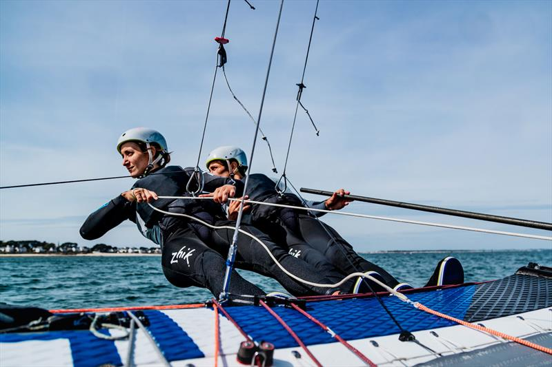 Quentin Delapierre and Manon Audinet train for their Nacra 17 Olympic campaign - photo © RiBLANC / Zhik