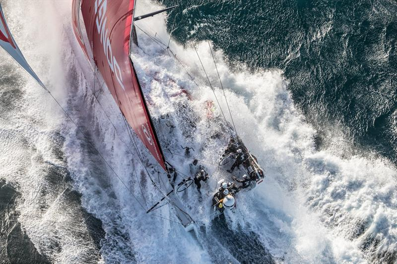 Dongfeng Race Team gets wet - photo © Dongfeng Race Team